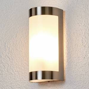 Lindby Beautiful stainless steel outdoor wall lamp Alvin