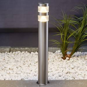 Lindby Lanea stainless steel pathway light with LEDs 60cm