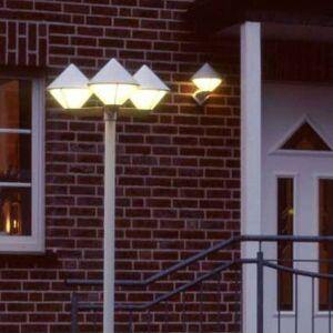 Albert Leuchten Modern post light 181, white, three-bulb