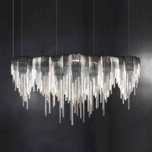 Terzani Volver - exclusive LED hanging light, elongated