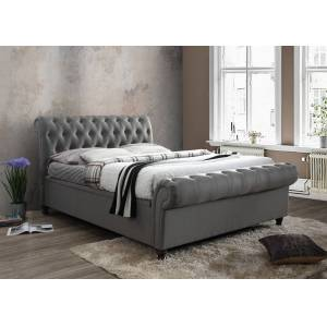Oak Furniture Superstore Arkansas Grey Super King Size Side Ottoman Bed