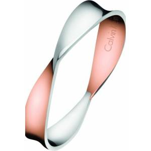 CALVIN KLEIN Jewellery Ladies Calvin Klein Two-Tone Steel and Rose Plate Size N Supple Ring Size N.5 KJ7SPR200107