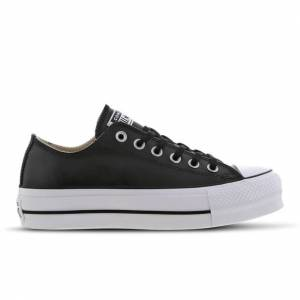 Converse Chuck Taylor All Star Platform Low Leather - Women Shoes - Black - Leather - Size 7 - Foot Locker  - Black - Size: 7