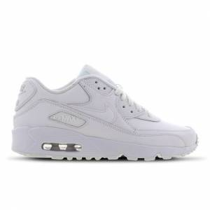 Nike Air Max 90 Leather - Grade School Shoes  - White - Size: 40