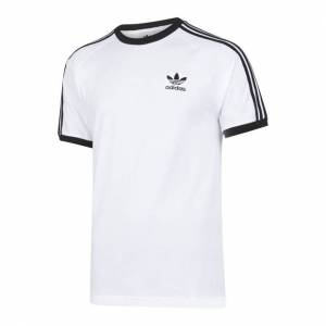 adidas adicolor 3-Stripes - Men T-Shirts  - White - Size: Large