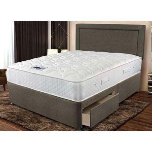 """Sleepeezee Memory Comfort 800 Divan Bed Set - Small Double (4' x 6'3""""), 4 Drawers, Sleepeezee_Weave Heather"""