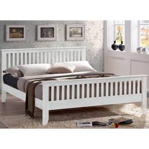 """Time Living Turin White Bed Frame - Single (3' x 6'3"""")"""