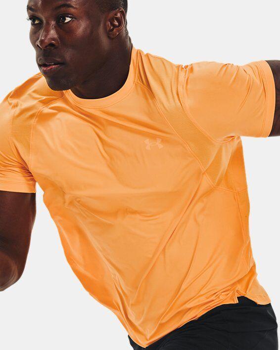 Under Armour Men's UA Iso-Chill Run Short Sleeve  - Orange - Size: LG