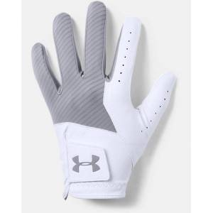 Under Armour Men's UA Medal Golf Glove  - Gray - Size: RXL