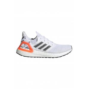 Adidas Ultraboost 20  - Cloud White/Core Black/Signal Coral - UK 6