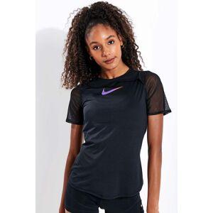 Nike Short-Sleeve Running Top - Black/Purple - XS