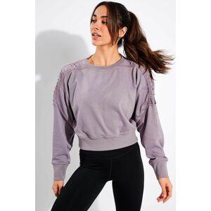 Nike Cropped Fleece Training Crew - Purple Smoke/Clear - L