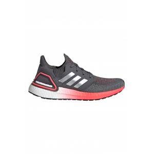 Adidas Ultraboost 20 Shoes - Grey Five/Silver Metallic/Signal Pink   Women's - UK 8