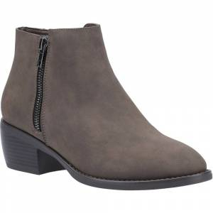 Size:  7-   Divaz Womens Ruby Stylish Zip Up Pull On Ankle Boots UK Size 7 (EU 40)