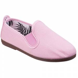 Size:  1.5-   Flossy Womens/Ladies Arnedo Slip On Canvas Casual Summer Pumps Shoes UK Size 1.5 (EU 33)