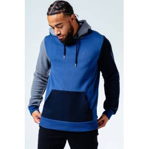 Hype Navy Patch Work Men's Pullover Hoodie   Size X-Small