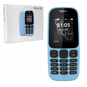 Nokia 105 SIM-Free Mobile Phone Latest Edition - Unlocked with FM Radio, LED Light etc. - BLUE