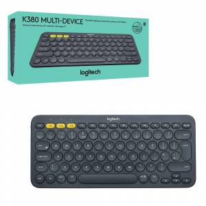 Logitech K380 Wirefree Bluetooth Keyboard for Windows, Mac, Chrome, Android, iOS and Apple TV - QWERTY