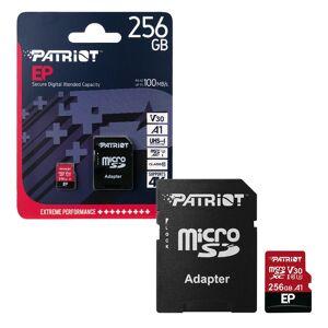 Patriot MicroSDXC Memory Card EP Series A1 V30 100MB/s for HD & 4K Video - 256GB
