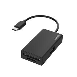 Hama USB-C Hub/Card Reader, 3 Ports, USB-A, SD, microSD