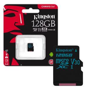 Kingston Canvas Go! MicroSDXC Memory Card 90MB/s UHS-1 V30 Class 10 - 128GB