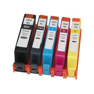 HP 7dayshop Compatible 364XL Ink Cartridge Multipack - 364XL (B/C/M/Y/PB) for HP