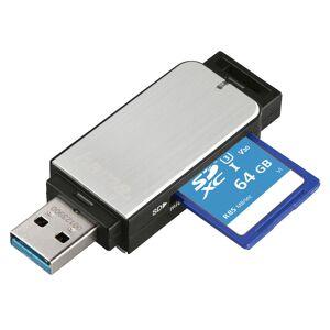 Hama USB 3.0 Card Reader, SD/microSD, Silver