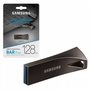 Samsung 128GB Bar Plus USB 3.1 Flash Drive 300MB/s - Grey - MUF-128BE4EU