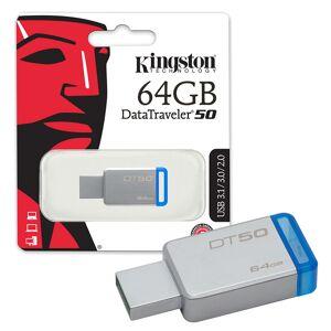 Kingston Data Traveler DT50 USB 3.0 Flash Drive USB 3.0 Memory Stick - 64GB