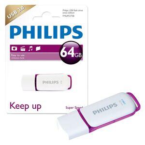 Philips Snow Series USB 3.0 Flash Drive USB 3.0 Memory Stick - 64GB