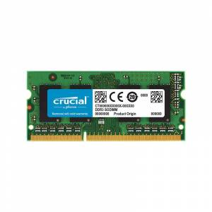 Crucial 4GB DDR3L 1600 MHz (PC3-12800) CL11 Unbuffered SODIMM 240pin 1.35V Single Ranked Memory Module