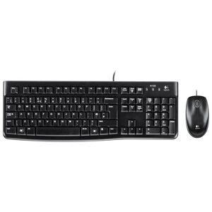 Logitech MK120 USB Desktop Keyboard and Optical Mouse Set QWERTY UK Layout