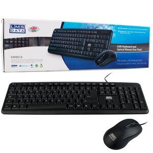 Dynamode / LMS Data USB Full Size Keyboard and USB Optical Mouse Set - UK QWERTY Layout