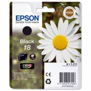 Epson Original 18 T1801 Daisy Ink Cartridge 5.2ml Black