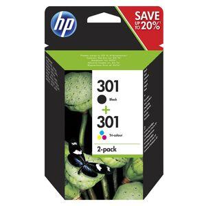 HP Original 301 Combo Pack CH561EE Black & CH562EE Colour Inkjet Cartridges - N9J72AE