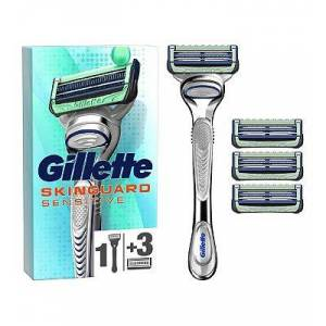 Gillette SkinGuard Sensitive Men's Razor + 3 Razor Blades