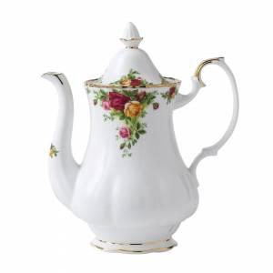 Wedgwood Royal Albert Old Country Roses Large Coffee Pot