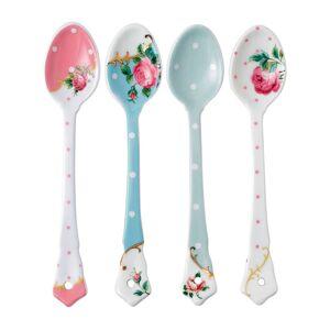 Wedgwood Royal Albert Ceramic Spoon, Set of 4