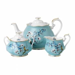Wedgwood Royal Albert 100 Years of Royal Albert 1950 Festival Teapot, Sugar and Cream Set