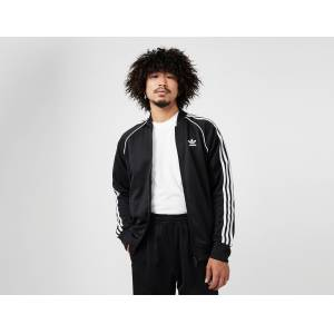 adidas Originals SS Track Top Men's, Black/White  - Black/White - Size: Large