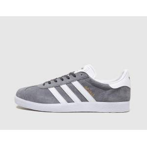 adidas Originals Gazelle, Solid Grey/White  - Solid Grey/White - Size: 8