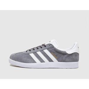 adidas Originals Gazelle, Solid Grey/White  - Solid Grey/White - Size: 10