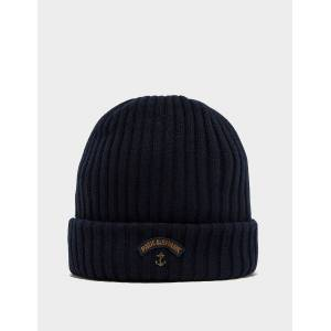 Paul and Shark Mens Paul and Shark Ribbed Knitted Logo Beanie Navy, Navy  - Navy - Size: One Size
