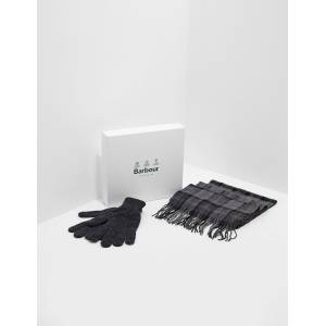 Barbour Mens Barbour Scarf & Gloves Gift Set Grey, Grey  - Grey - Size: One Size
