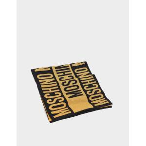 Moschino Women's Moschino Logo Scarf Multi, Black/Gold  - Black/Gold - Size: One Size