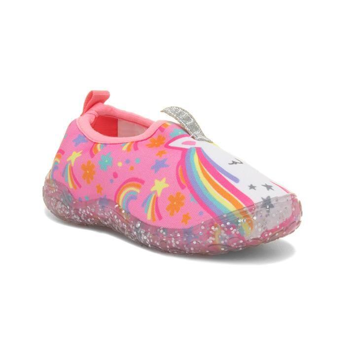 G2S Kids Pink Unicorn Flat Character Aqua Shoes
