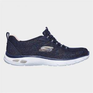 Skechers Womens Relaxed Fit Empire D'Lux in Blue