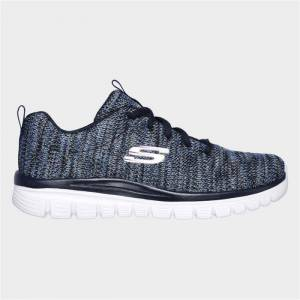 Skechers Womens Graceful Twisted Fortune in Navy