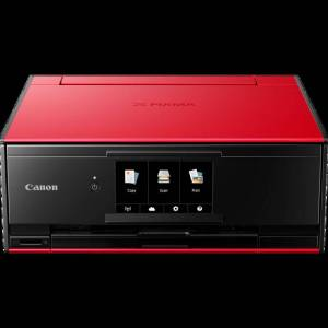 Canon PIXMA TS9155 Wireless Colour All in One Inkjet Photo Printer - Red