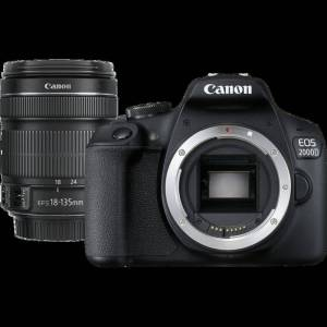 Canon EOS 2000D and EF-S 18-135mm Lens